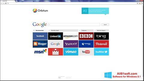 स्क्रीनशॉट Orbitum Windows 8.1