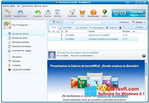 स्क्रीनशॉट IncrediMail Windows 8.1