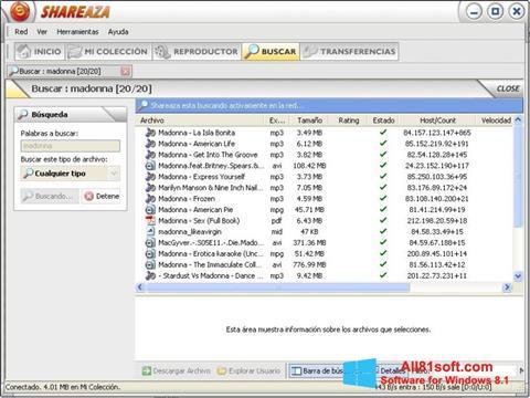 स्क्रीनशॉट Shareaza Windows 8.1