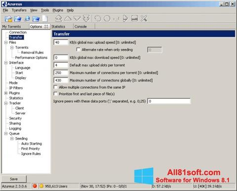स्क्रीनशॉट Vuze Windows 8.1