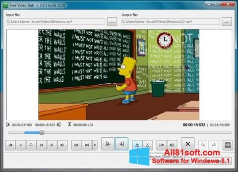 स्क्रीनशॉट Free Video Dub Windows 8.1
