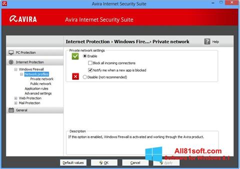 स्क्रीनशॉट Avira Internet Security Windows 8.1
