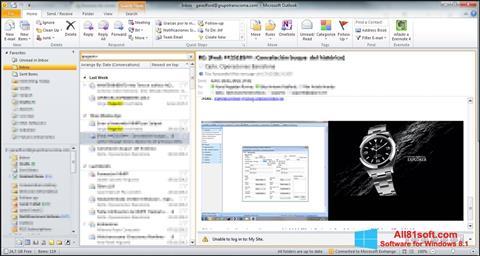 स्क्रीनशॉट Microsoft Outlook Windows 8.1