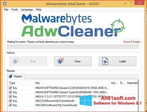 स्क्रीनशॉट AdwCleaner Windows 8.1