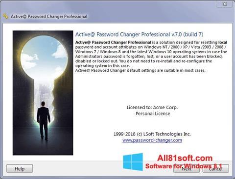 स्क्रीनशॉट Active Password Changer Windows 8.1