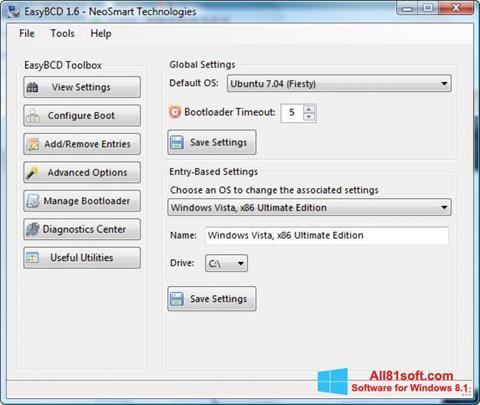 स्क्रीनशॉट EasyBCD Windows 8.1
