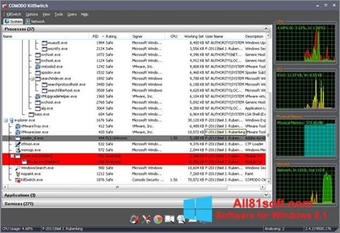 स्क्रीनशॉट Comodo Cleaning Essentials Windows 8.1