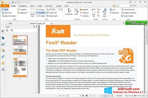 स्क्रीनशॉट Foxit Reader Windows 8.1