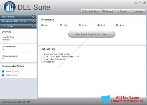 स्क्रीनशॉट DLL Suite Windows 8.1