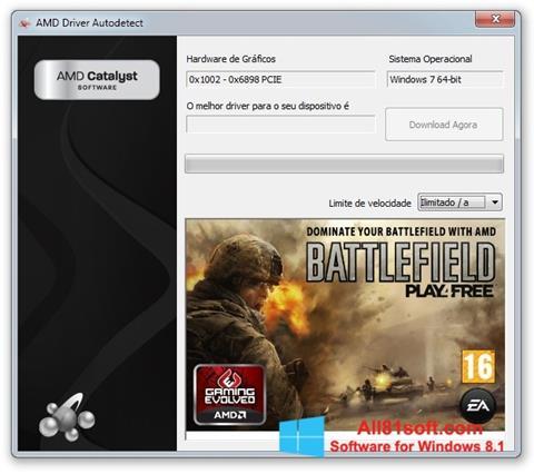 स्क्रीनशॉट AMD Driver Autodetect Windows 8.1