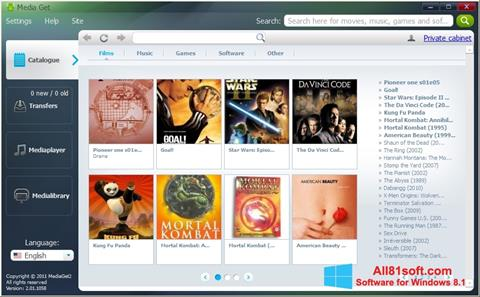 स्क्रीनशॉट MediaGet Windows 8.1