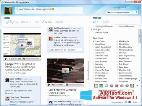 स्क्रीनशॉट Windows Live Messenger Windows 8.1