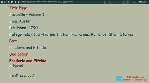 स्क्रीनशॉट ICE Book Reader Windows 8.1