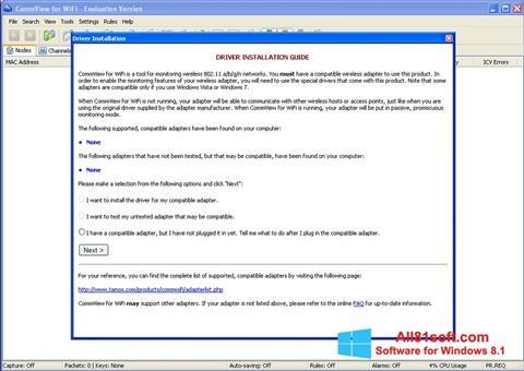 स्क्रीनशॉट CommView for WiFi Windows 8.1