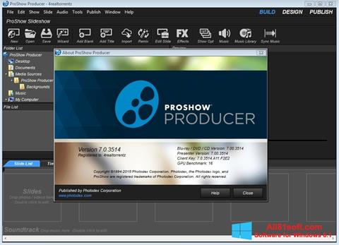स्क्रीनशॉट ProShow Producer Windows 8.1