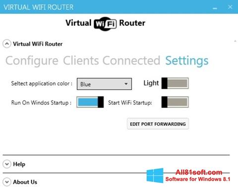 स्क्रीनशॉट Virtual WiFi Router Windows 8.1