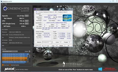 स्क्रीनशॉट CINEBENCH Windows 8.1