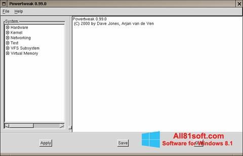 स्क्रीनशॉट PowerTweak Windows 8.1