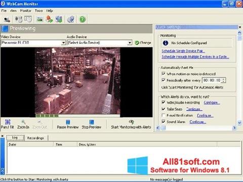 स्क्रीनशॉट WebCam Monitor Windows 8.1