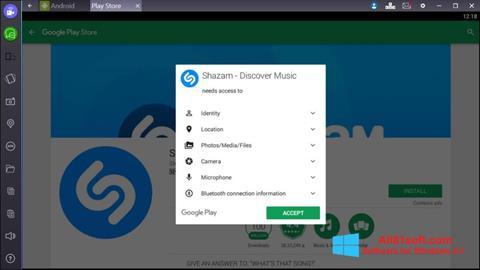 स्क्रीनशॉट Shazam Windows 8.1