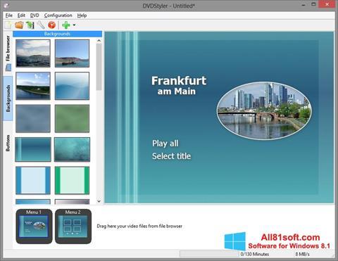 स्क्रीनशॉट DVDStyler Windows 8.1