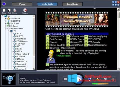 स्क्रीनशॉट Online TV Live Windows 8.1