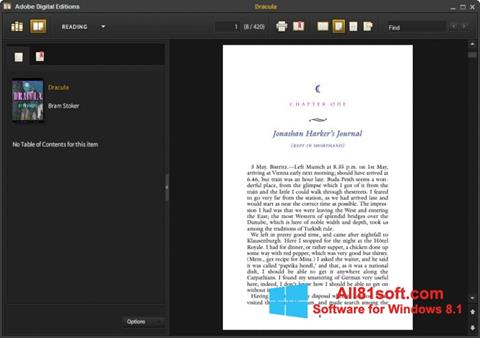 स्क्रीनशॉट Adobe Digital Editions Windows 8.1