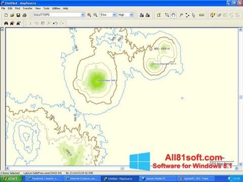 स्क्रीनशॉट MapSource Windows 8.1