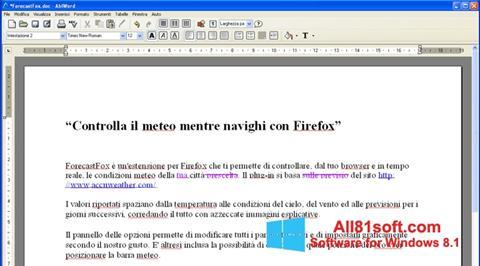 स्क्रीनशॉट AbiWord Windows 8.1