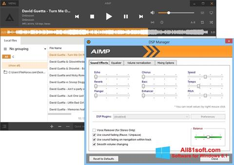 स्क्रीनशॉट AIMP Windows 8.1