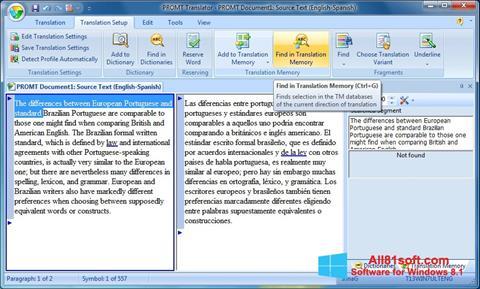 स्क्रीनशॉट PROMT Windows 8.1