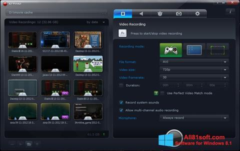 स्क्रीनशॉट Action! Windows 8.1