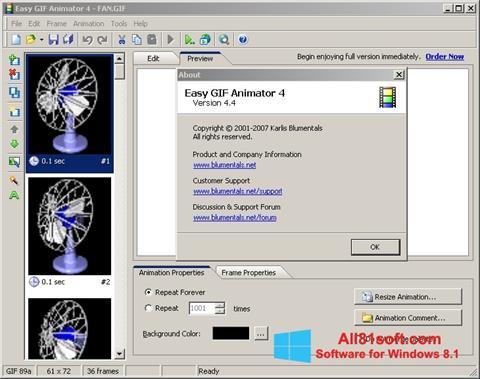 स्क्रीनशॉट Easy GIF Animator Windows 8.1
