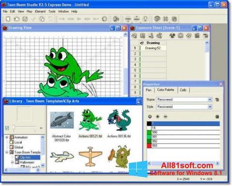 स्क्रीनशॉट Toon Boom Studio Windows 8.1