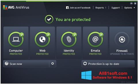 स्क्रीनशॉट AVG AntiVirus Pro Windows 8.1