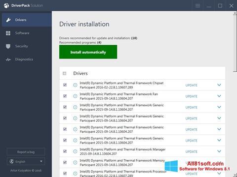 स्क्रीनशॉट DriverPack Solution Online Windows 8.1