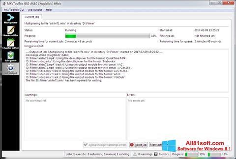 स्क्रीनशॉट MKVToolnix Windows 8.1