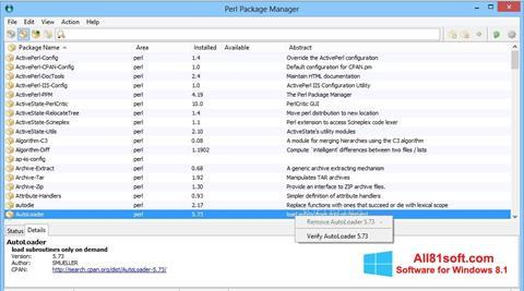 स्क्रीनशॉट ActivePerl Windows 8.1