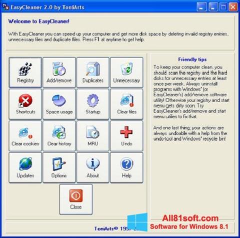 स्क्रीनशॉट EasyCleaner Windows 8.1