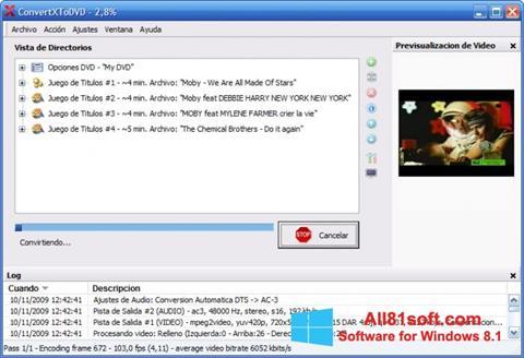 स्क्रीनशॉट ConvertXToDVD Windows 8.1