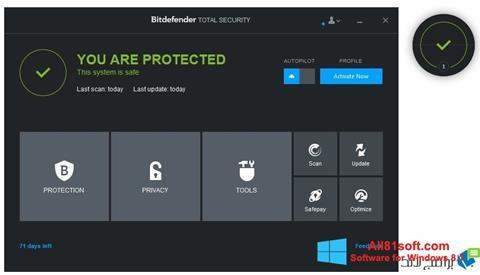 स्क्रीनशॉट Bitdefender Windows 8.1