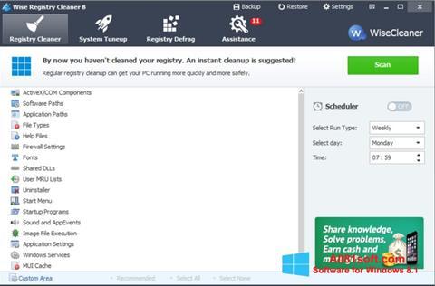 स्क्रीनशॉट Wise Registry Cleaner Windows 8.1