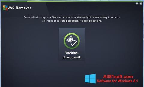 स्क्रीनशॉट AVG Remover Windows 8.1