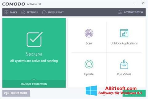 स्क्रीनशॉट Comodo Antivirus Windows 8.1