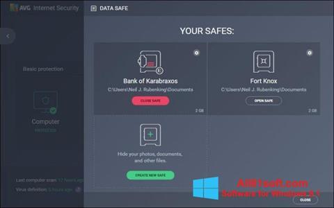 स्क्रीनशॉट AVG Internet Security Windows 8.1