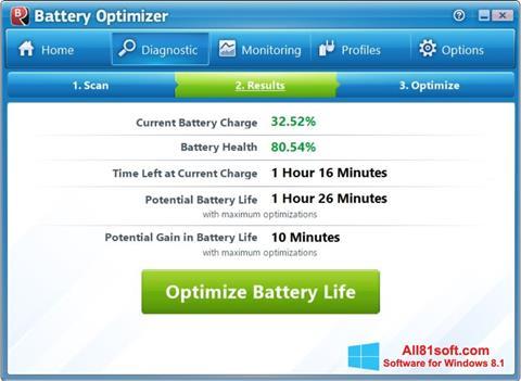 स्क्रीनशॉट Battery Optimizer Windows 8.1