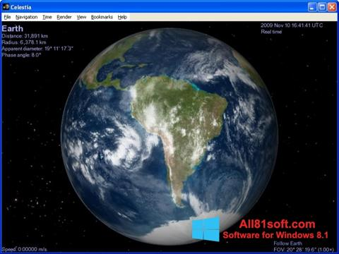 स्क्रीनशॉट Celestia Windows 8.1