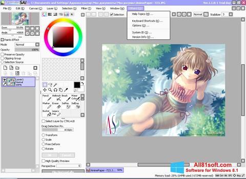 स्क्रीनशॉट Paint Tool SAI Windows 8.1