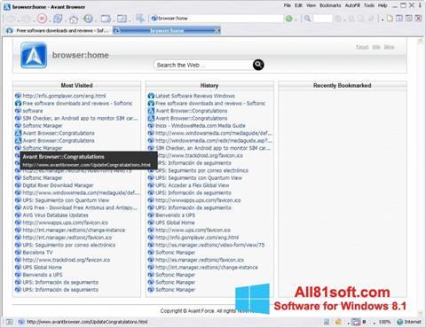 स्क्रीनशॉट Avant Browser Windows 8.1