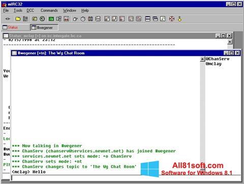 स्क्रीनशॉट mIRC Windows 8.1